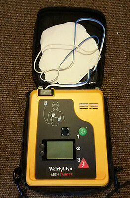 WELCH ALLYN AED10 TRAINER w/PADS CASE FULL BATTERY