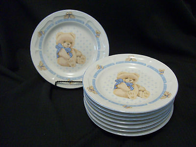 """Tienshan Country Bear 10 1/2"""" Dinner Plates Set Of 8 Available Free Shipping"""