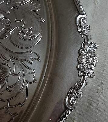 Vintage Viners Alpha Silver Plated Chased Serving Tray
