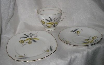 Colclough Porcelain Bone China Trio Cup, Saucer, Plate Autumn Ferns