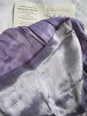Antique Vintage French Lame Fabric Lav/Silver Metallic Moire Watermark Flapper