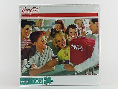 "Coca Cola ""soda Fountain"" 1000 Piece Puzzle Bonus Poster Inside 2009 Nib"