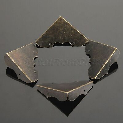 4PCS Antique Metal Book Corner Protectors Vintage Hardware Protection Decorative