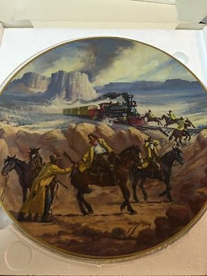 Train Robbers By Harland Young Kern Collectibles Plate Limited Edition 1982 USA