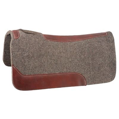 Tough-1 Saddle Pad Conforming Wool Wear Leathers 31 x 31 Gray 31-2580