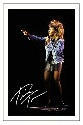 Tina Turner Signed Photo Print Autograph Simply The Best