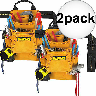 DeWalt DG5333 2pk 10-Pocket Carpenter's Suede Nail and Tool Bag New