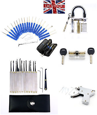 Unlocking Lock Opener Kit Practice Transparent Padlock Torsion Tool Set UK Stock