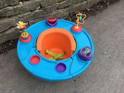 Summer Infant 3-Stage Super Seat Positioner with Snack Tray and Toys EUC