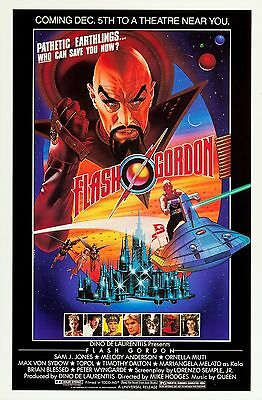 Flash Gordon (1980) Original Style B Movie Poster  - Rolled - Lawrence Noble Art