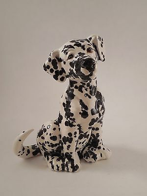 "Lovely Ceramic Spotted Dalmatian Dog Figurine 6 3/8"" Tall"