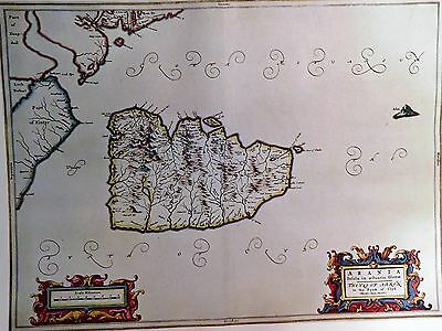 1654 Antique Map Of The Isle Of Arran - Blaeu -  Scotland - Clyde - Reproduction
