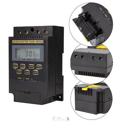 AC 220V Digital LCD Microcomputer Timer Switch Programmable Controller KG316T