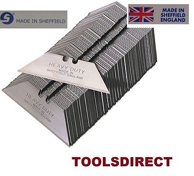 100 Trimming Knife Blades fit all Utility Knives heavy duty Sheffield brand