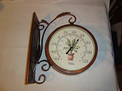 National Geographic Clock Thermometer Wall Hanging Dual Face