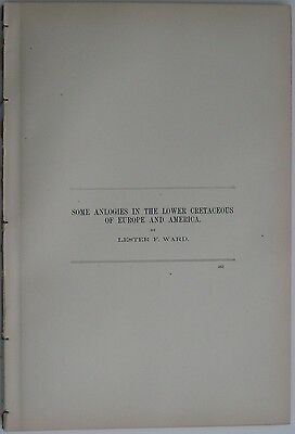 1895 USGS Geology Report LOWER CRETACEOUS Europe America Maps Isle of Wight Ward