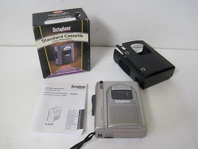 DICTAPHONE 2225 Standard Cassette Voice Processor Voice Activated Recording Used