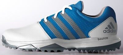 Adidas 360 Traxion Golf Shoes White/dark Silver/shock Blue -New  2017