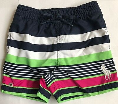 Bnwt Baby Boys Polo Ralph Lauren Big Pony Newport Swimming Trunks/shorts/pants
