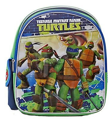 "Teenage Mutant Ninja Turtles Small Toddler 12"" Blue Cloth Backpack"