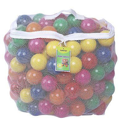 Crush Proof Plastic Ball For Ball Pits Kids Baby Toddler 200 Piece Set BPA Free