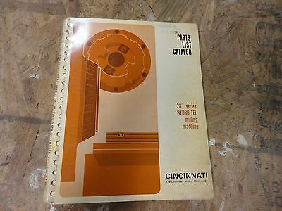 Cincinnati Hydrotel Milling Machine Parts Manual original