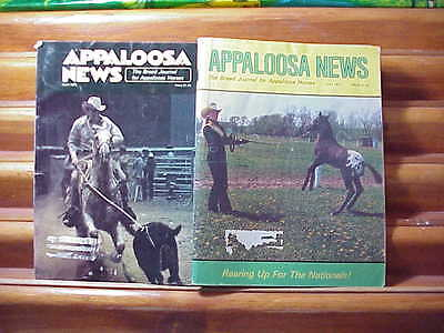2 Appaloosa News Vintage Horse Magazines Devoted to Spotted Ponies; 1977-78