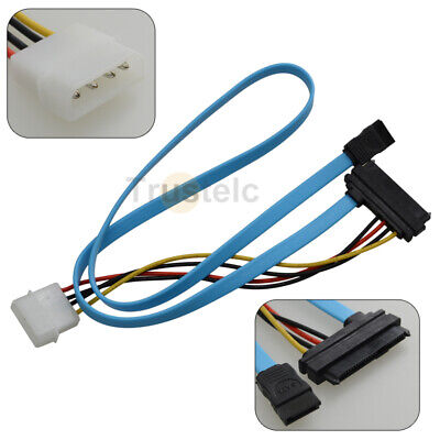 IDE 4 Pin SATA 7Pin to SAS 7+15 Pin Data Power Cable Adapter for PC Drive
