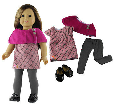 """Doll Clothes for 18"""" American Girl Doll Handmade 4PCS Casual Wear Outfit"""
