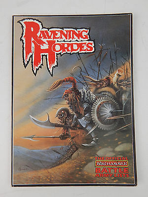 Warhammer Fantasy Battle Ravening Hordes Book - Games Workshop 1987 VG Cond.