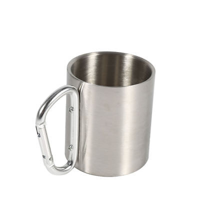 Stainless Steel Mug Travel Camping Hiking Outdoor Water Cups With Handle J