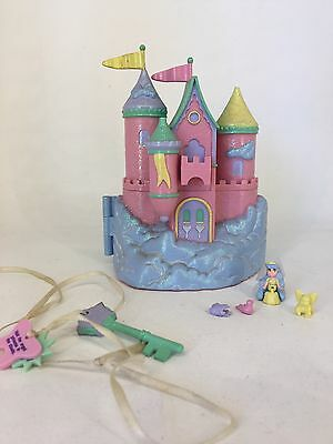 Vintage 94 Polly Pocket Trendmasters Starcastle - Pink - IN THE CLOUDS