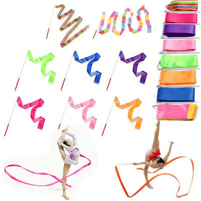 4M Popular Fashion Dance Ribbon Gym Art Gymnastic Ballet Streamer Twirling Rod