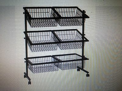 6 Basket Floor Display Stand Secondhand Excellent Condition