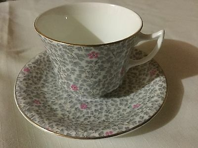 Radfords Bone China  Cup And Saucer England    Grey Chintz