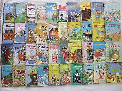 BULK LOT of LITTLE GOLDEN BOOKS - 40 Hardcovers- Vintage & Newer - GREAT TITLES