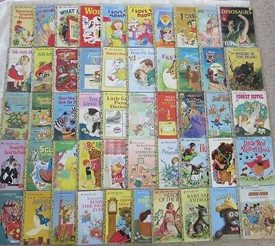 BULK LOT of LITTLE GOLDEN BOOKS - 40 Hardcovers- Vintage & Newer - KIDS LUV 'EM