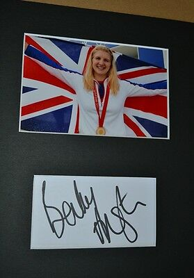 "Rebecca Adlington Autograph Signed Card **6"" X4"" ** Photo (Olympic Swimmer)  55"