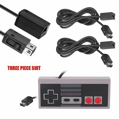 1PC Game Controller & 2PCS Extension Cable for Nintendo NES Mini Classic Edition