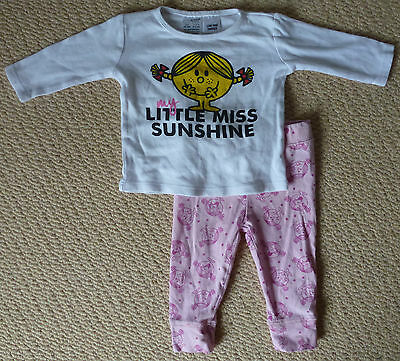 Little Miss Sunshine Licensed Baby Girls Pyjamas Long Sleeve Top Pants Size 00
