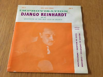 "Django Reinhardt - Improvisation - 1963 7"" Ep P/s - Lots More Jazz In My Shop!!"