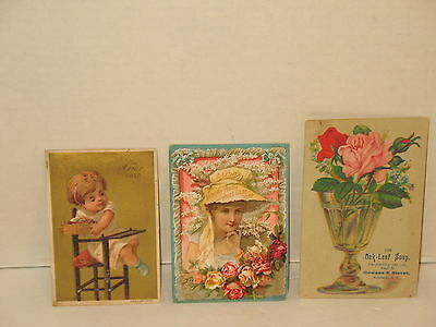 Acme Laird's Oak Leaf Soap Lot Of 3 Victorian Trade Cards