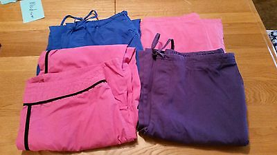 Lot Of Four Scrub Bottoms size Med.
