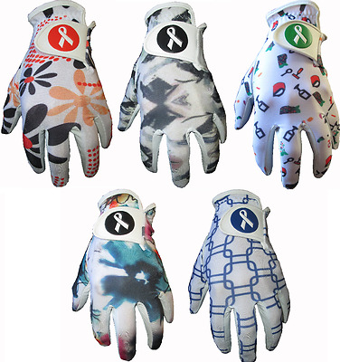 5 Ladies Fashion Designs Cabretta Leather Golf Gloves 4 Small Medium Large