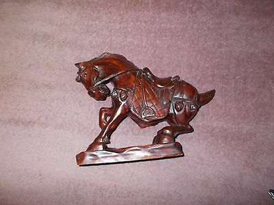 Old Chinese Hand Carved Tang Dynasty Wood Horse Statue