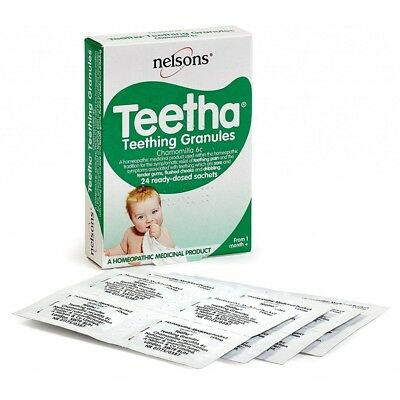 Nelsons Teetha Granules 24 sachets homeopathic remedy teething calming