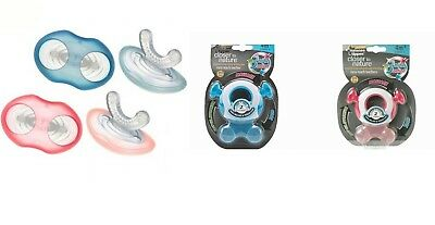 Tommee Tippee Closer To Nature Teether Stage 1 2 Boy Girl Blue Pink massage gums