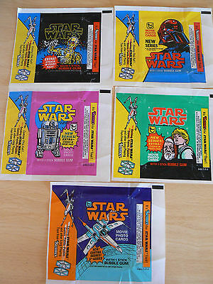 Topps Star Wars Wax Wrappers Set 1977 Series 1-5 Fair Condition