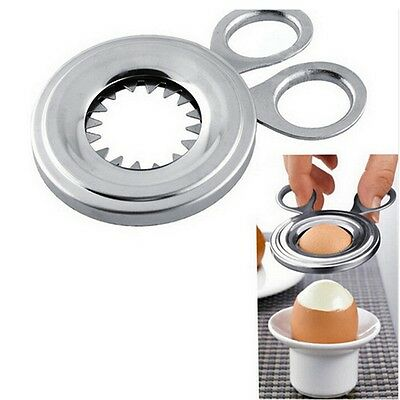 STAINLESS STEEL SOFT BOILED EGG Cutter Capper Easy Topper Cutter Without Cup Top