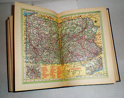 Rare Old Vintage 1951 HAMMOND'S Complete World ATLAS Book Index Colored Maps 50s